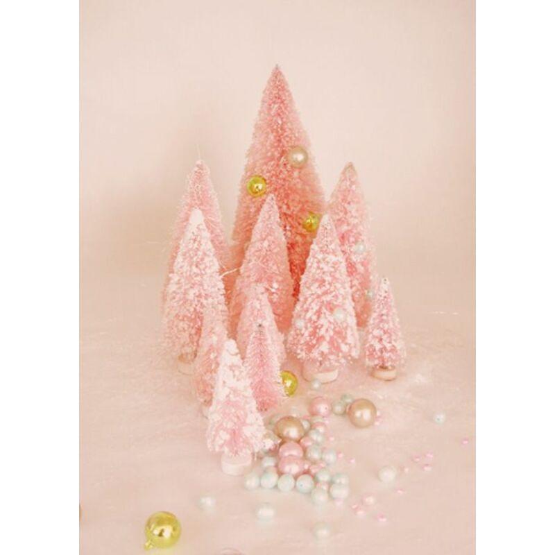 Mini dekor fenyő barack szín 12cm 5db/csomag