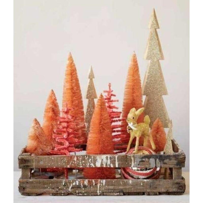 Mini dekor fenyő barack szín 4cm 10db/csomag
