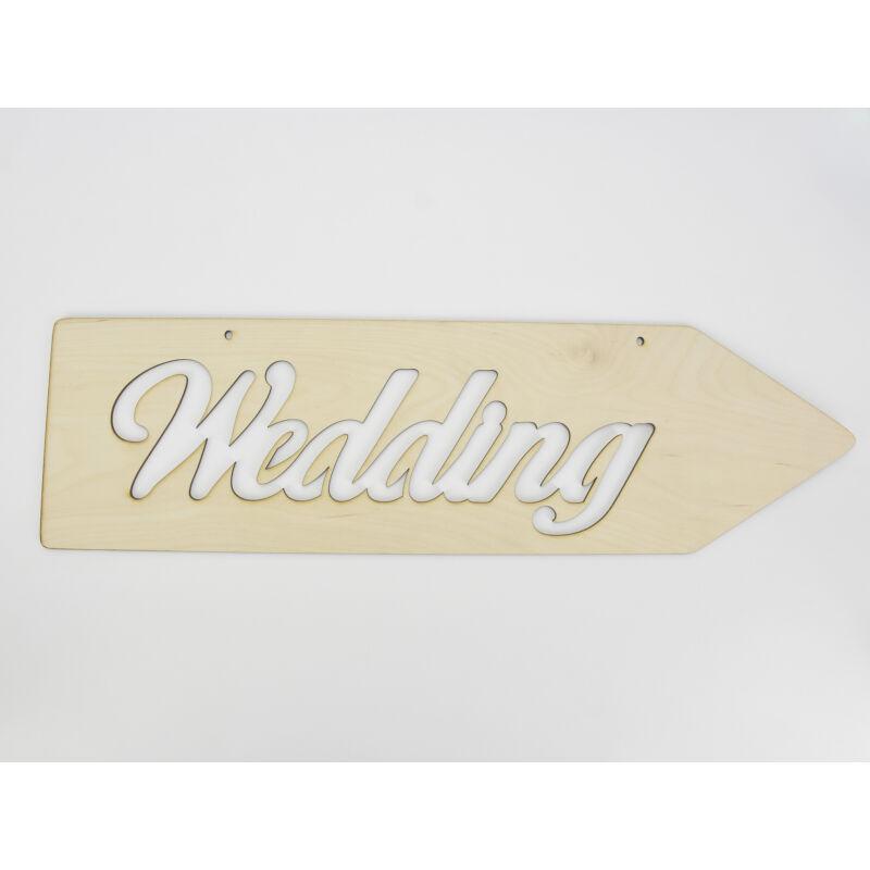 "Natúr fa - ""Wedding"" irányítótábla  hagyományos 50cm"