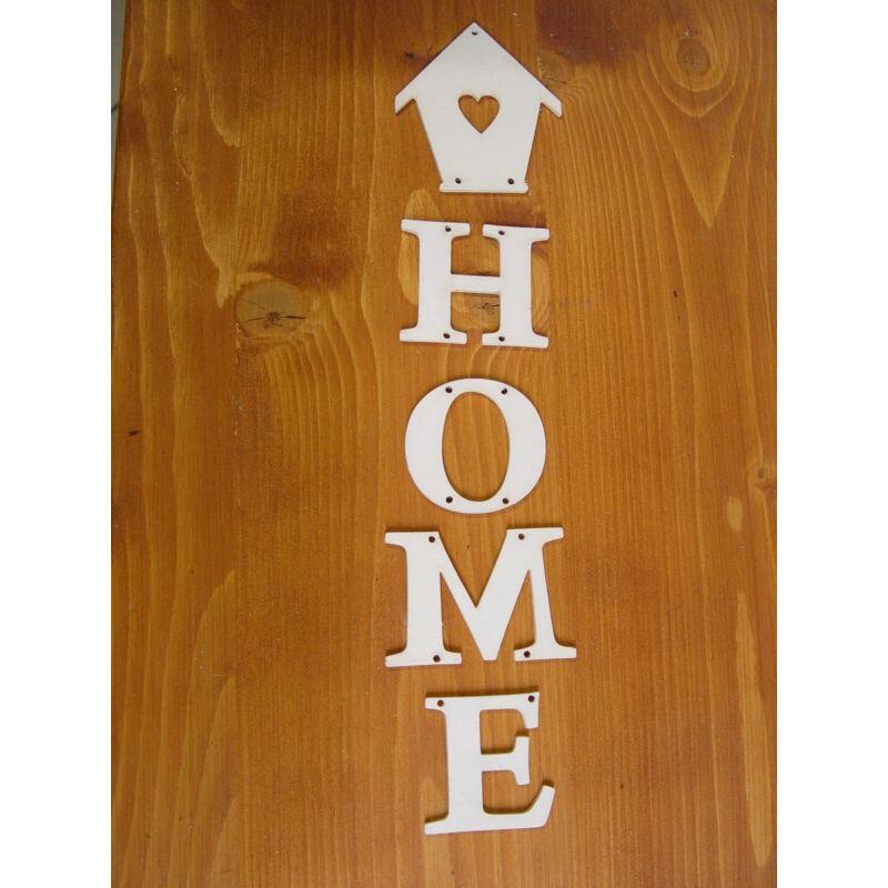 """Natúr fa - Akasztós """"HOME"""" felirat házikóval 8x34cm"""