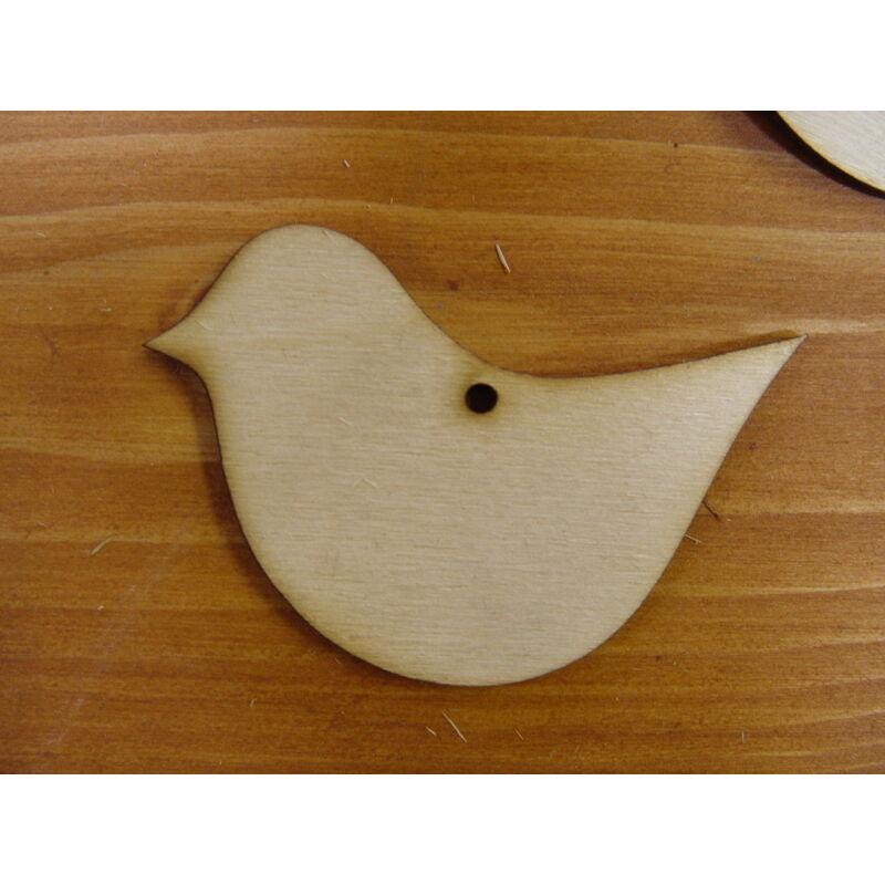 Natúr fa - Kövér madár 6x8cm 10db/csomag