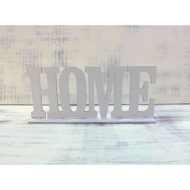 Home felirat talppal fehér 25cm