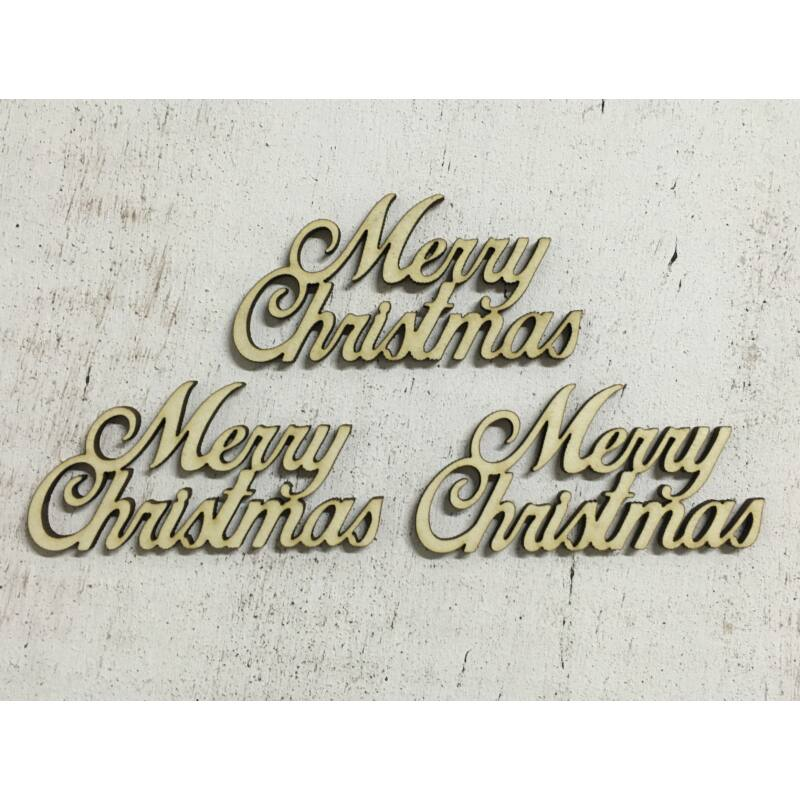 """Merry Christmas"" felirat 7,5cm 3db/csomag"