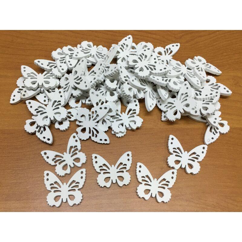 Fa pillangó fehér 3cm