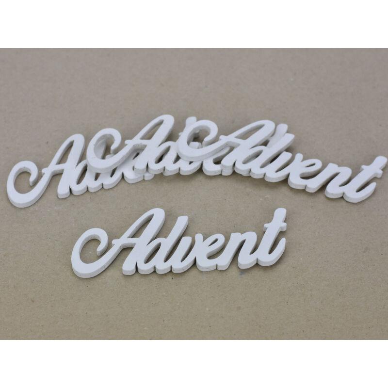 Advent felirat fehér 15cm 4db/csomag