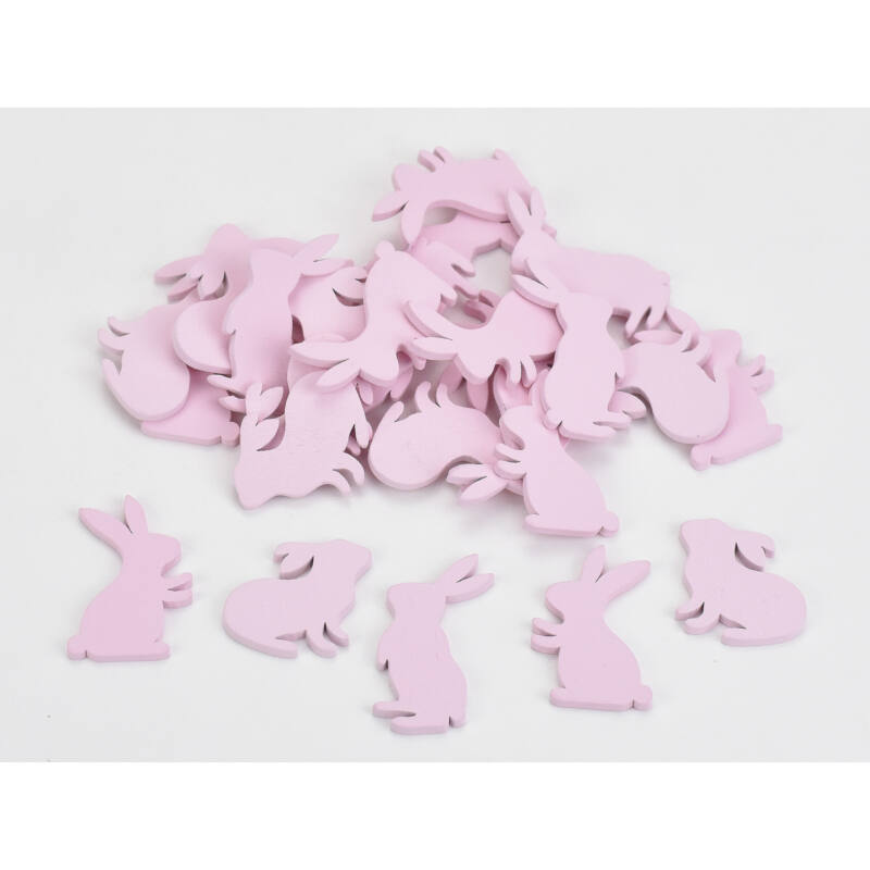 Fa mini nyuszi vegyes pink 4cm 27db/csomag
