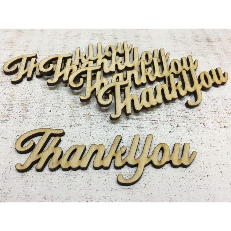 """Natúr fa - """"Thank You"""" felirat 10cm"""