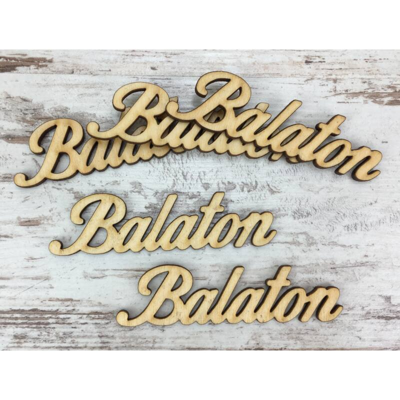 "Natúr fa - ""Balaton"" felirat 9,5cm"