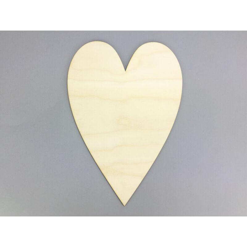 Natúr fa - Szív 21x30cm