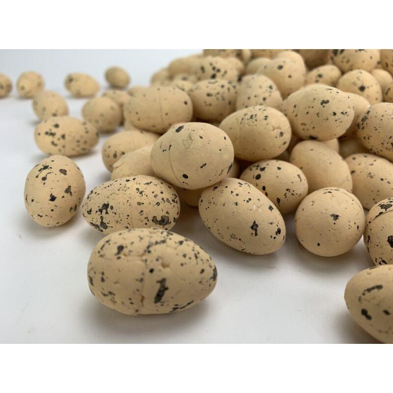 Festett polisztirol tojás természetes színek 2*3cm 240db/cs - púder
