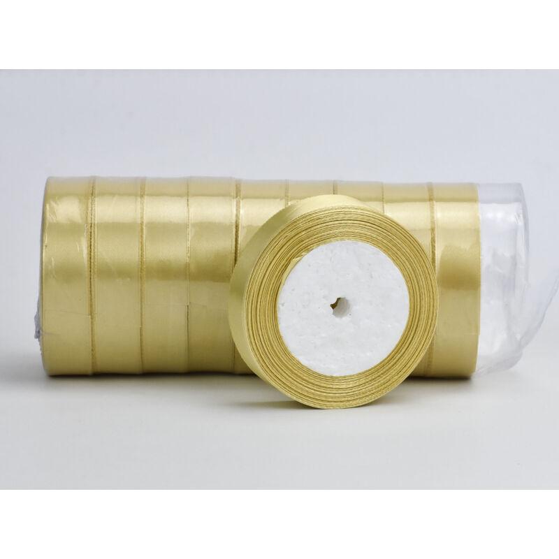 Arany szatén szalag 2cm 10 tekercs - OKOS ÁR!