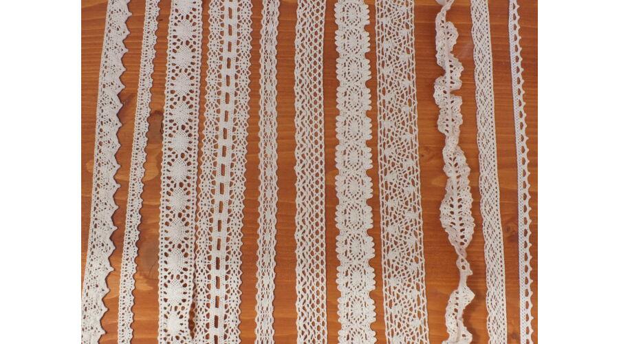 21ddfa83b9 Gumis pamut csipke - ekrü 2,5cm*2méter - Csipkék