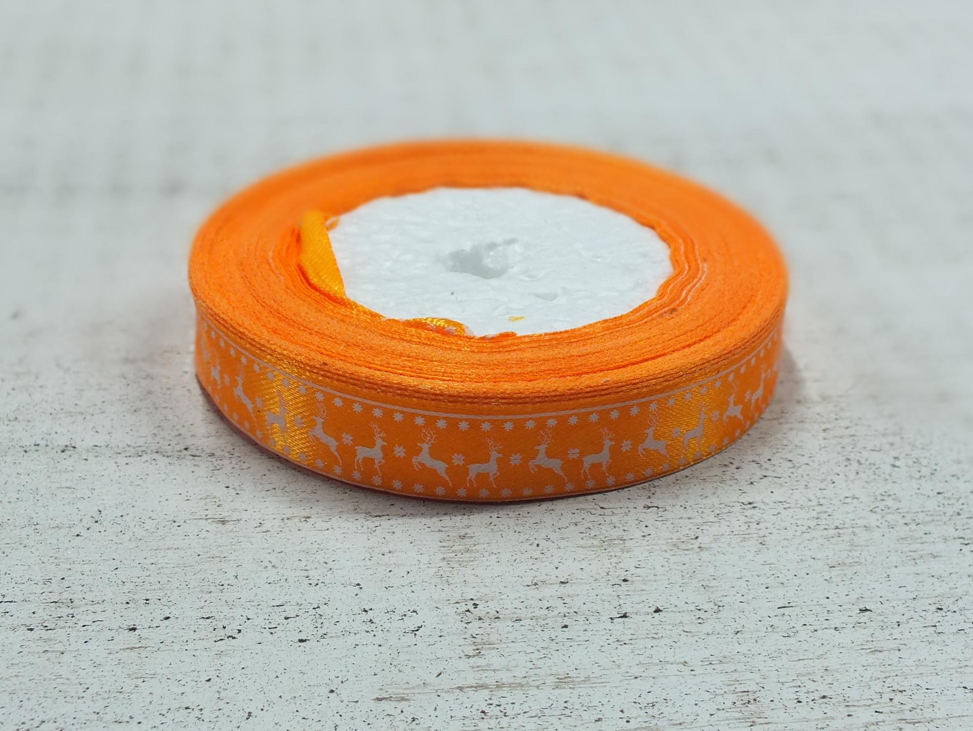 Szatén szalag szarvasos narancs - Szatén szalag 6569e15c2f